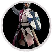 Medieval Warrior Round Beach Towel