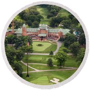 Round Beach Towel featuring the photograph Medinah Country Club by Adam Romanowicz