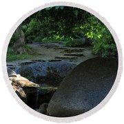 Meditation Path Round Beach Towel