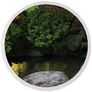 Meditation Pond Round Beach Towel