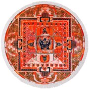 Meditation Yoga Mandala Yuan Dynasty Round Beach Towel