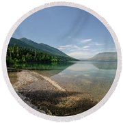 Round Beach Towel featuring the photograph Meditative Mood by Margaret Pitcher