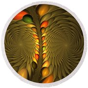 Meditirina Seed Pod Round Beach Towel