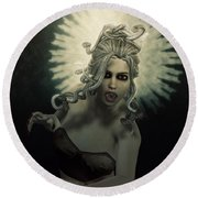 Medusa Round Beach Towel