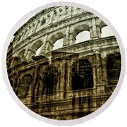Meet Me At The Colosseum Round Beach Towel