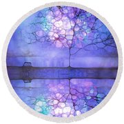 Meet Me At Twilight Round Beach Towel