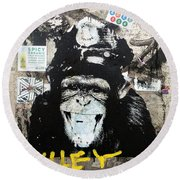 Meet Wiley In New York  Round Beach Towel