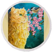 Meeting Eye To Eye Round Beach Towel