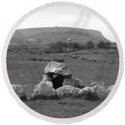 Megalithic Monuments Aligned Round Beach Towel