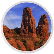 Megalithic Red Rocks Round Beach Towel