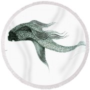 Megic Fish 1 Round Beach Towel
