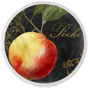 Melange Peach Peche Round Beach Towel by Mindy Sommers