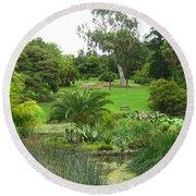 Melbourne Botanical Gardens Round Beach Towel