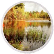 Mellow Days Round Beach Towel by Betsy Zimmerli