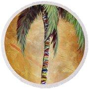 Mellow Palm II Round Beach Towel