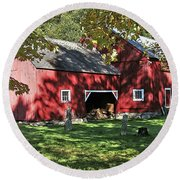 Mellow September Round Beach Towel by Betsy Zimmerli