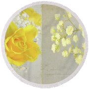 Round Beach Towel featuring the photograph Mellow Yellow by Lyn Randle