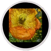 Mellow Yellow - Signed Round Beach Towel