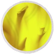 Mellow Yellow Round Beach Towel by Tony Locke