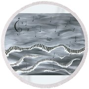 Melody Round Beach Towel