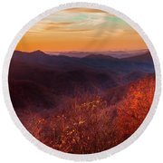 Melody Of Autumn Round Beach Towel