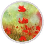Melody Of Summer Round Beach Towel
