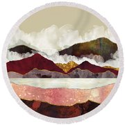 Melon Mountains Round Beach Towel