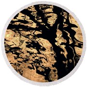 Melted Chocolate Round Beach Towel