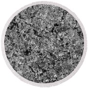 Round Beach Towel featuring the photograph Melting Snow by Chevy Fleet