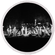 Memorial Candles II Round Beach Towel