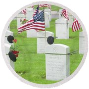 Memorial Day Two Round Beach Towel