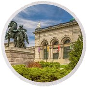 Round Beach Towel featuring the photograph Memorial Hall - Fairmount Park by Nick Zelinsky