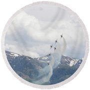 Round Beach Towel featuring the photograph Memorial Pass by Bryan Carter