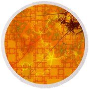 Memories Of Another Time II Round Beach Towel