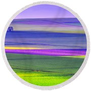 Memories Of Colors Round Beach Towel