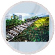 Memories Of Commonwealth Round Beach Towel