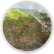 Memories Of Commonwealth - Wall II Round Beach Towel