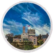 Round Beach Towel featuring the photograph Memories Of San Francisco by John M Bailey