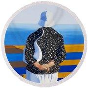 Memories Of The Sea Round Beach Towel