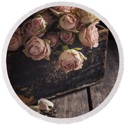 Round Beach Towel featuring the photograph Memory Box by Amy Weiss