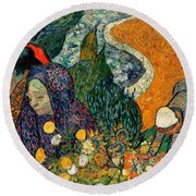 Round Beach Towel featuring the painting Memory Of The Garden At Etten by Van Gogh