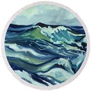 Memory Of The Ocean Round Beach Towel