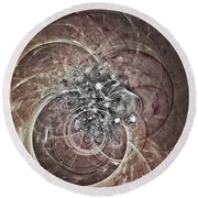 Round Beach Towel featuring the digital art Memory Remains by Jeff Iverson