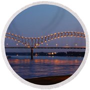 Memphis - I-40 Bridge Over The Mississippi 2 Round Beach Towel