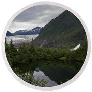 Mendenhall Lake Round Beach Towel