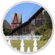 Mendocino Barn Round Beach Towel