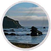 Mendocino Coast No. 1 Round Beach Towel