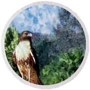Menifee Falcon Round Beach Towel