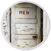 Men's Room Round Beach Towel by Marilyn Hunt