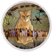 Meow Round Beach Towel